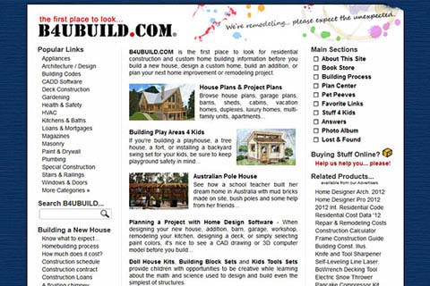 B4UBUILD.COM Website